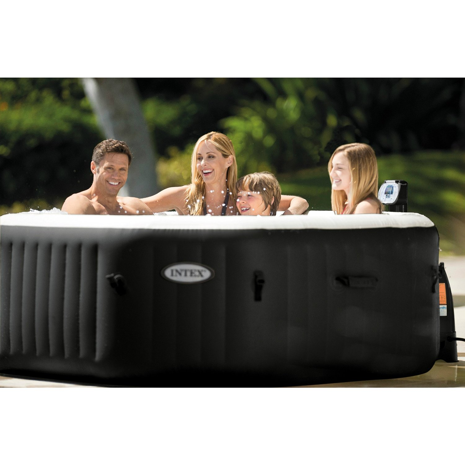 intex purespa jet and bubble deluxe portable hot tub. Black Bedroom Furniture Sets. Home Design Ideas