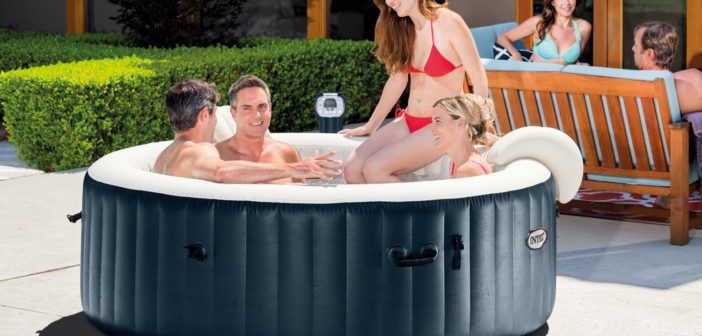 Intex Portable 6-Person Inflatable PureSpa Plus Bubble Spa