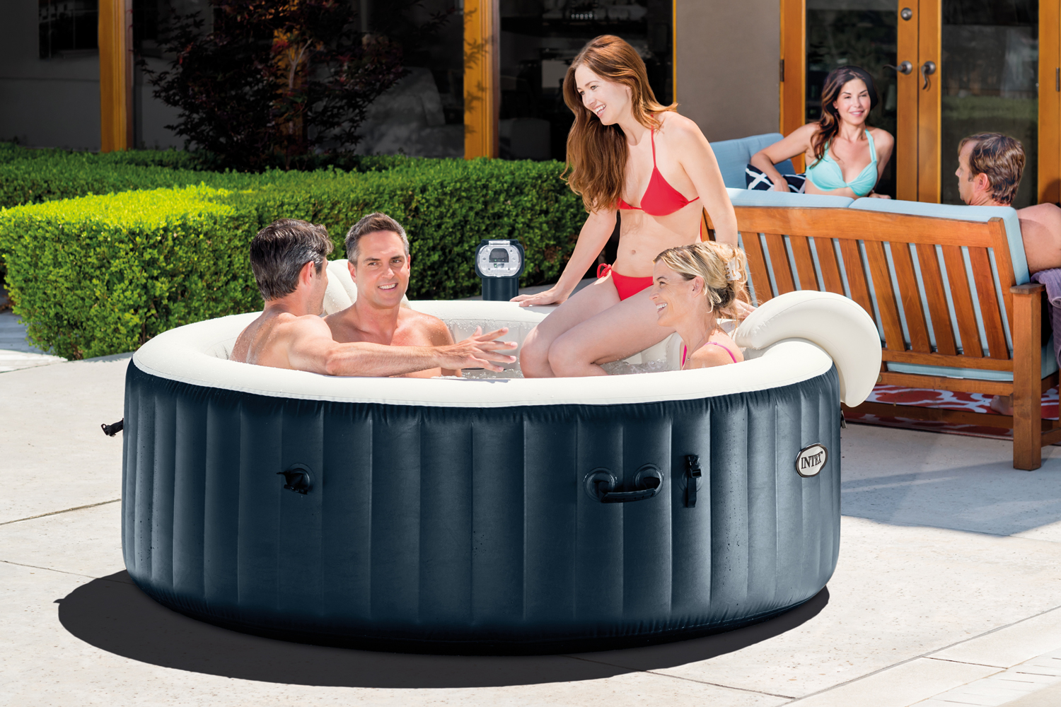 Intex portable 6 person inflatable purespa plus bubble spa laze up - How to choose a hot tub ...