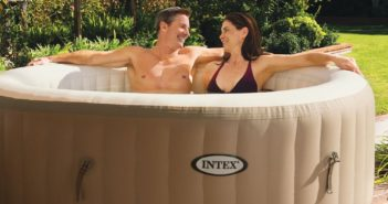 Intex PureSpa Bubble Massage 4-Person Portable Hot Tub - Laze Up