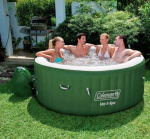 Coleman SaluSpa can accommodate up to 4 persons