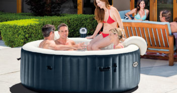 Intex Portable 6-Person Inflatable PureSpa Plus Bubble Spa