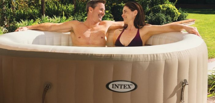 Intex PureSpa Bubble Massage 4-Person Portable Hot Tub - Laze Up