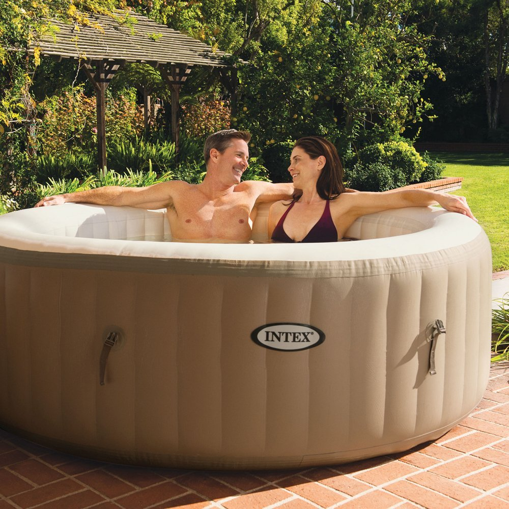 Beau Intex PureSpa Bubble Massage 4 Person Portable Hot Tub Review