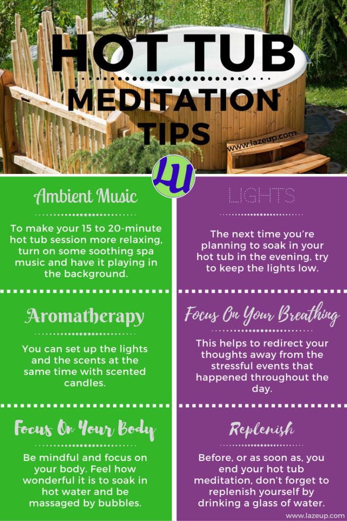 6 Hot Tub Meditation Tips Pin
