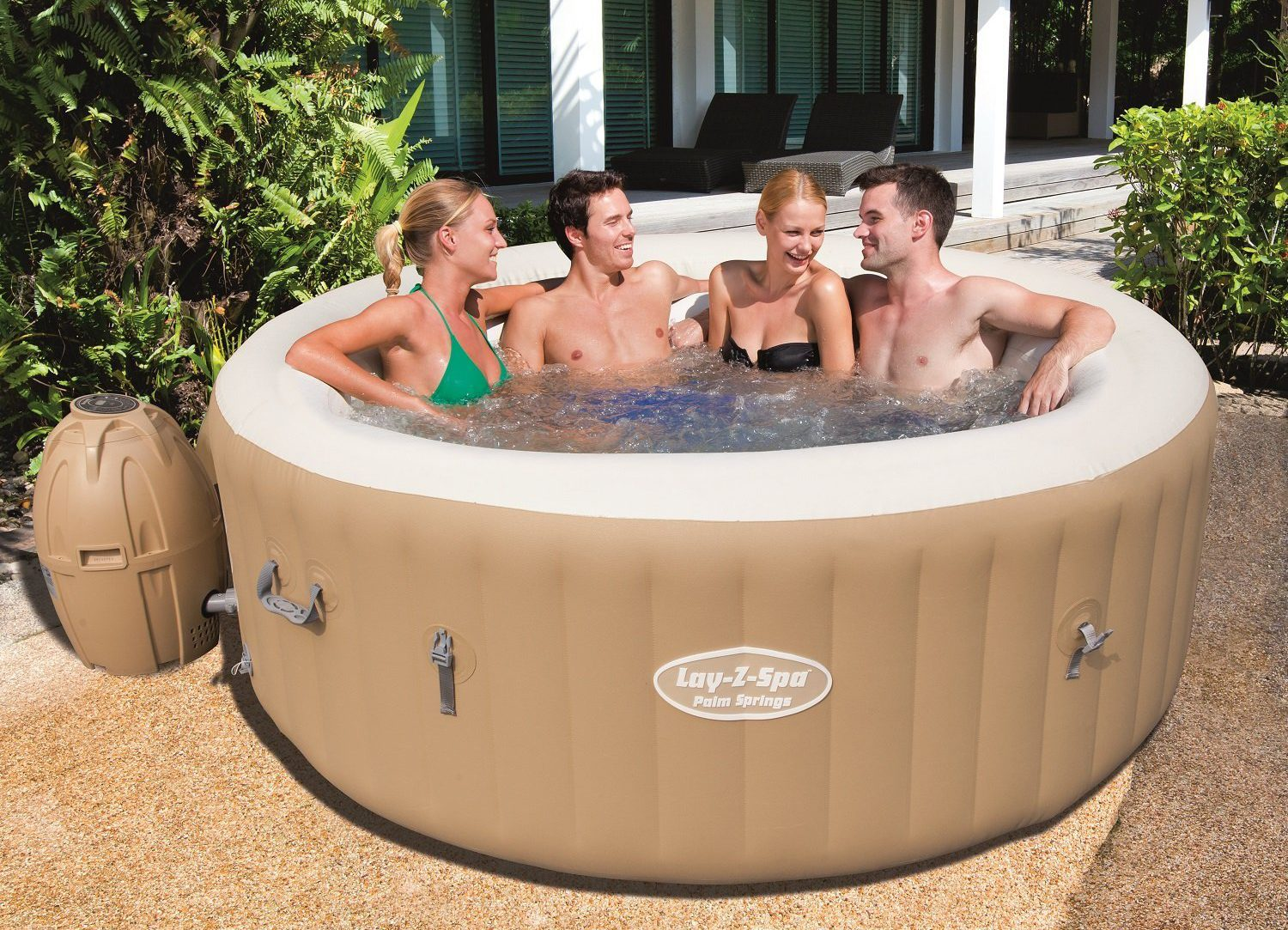 SaluSpa Palm Springs AirJet Inflatable Hot Tub Review – Laze Up!
