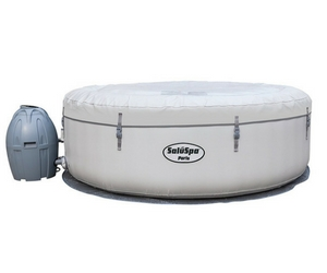 SaluSpa Paris AirJet Inflatable Hot Tub w LED Light Show Review