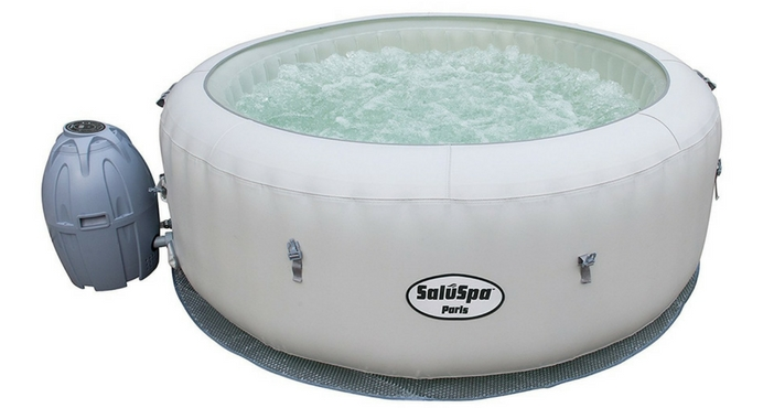 SaluSpa Paris AirJet Inflatable Hot Tub w LED Light Show Product Image