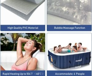 Large 6 person capacity - Goplus 6-Person Spa Review